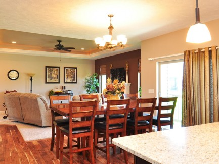 BK Custom Homes Dining Area Beauty Shot